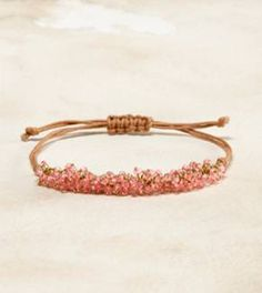 super cute. Would make a great frienship bracelet or stack a bunch in different colors.