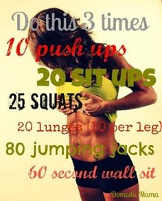 Looks short & sweet, but wait till you try it! #Exercise #BeFit #Workout