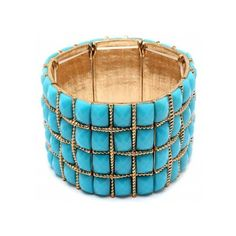 Drops of Turquoise Bracelet ($25) ❤ liked on Polyvore