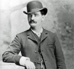 """Bat"" Masterson (William Barclay Masterson November 27, 1853 -   October 25, 1921) Gunfighter, gambler, sheriff's deputy alongside Wyatt Earp, newspaper columnist; cause of death, heart attack"