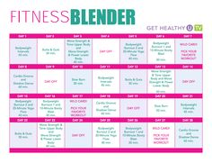 Whether your goal is to lose weight, build muscle, or simply get in the best shape of your life, this 28-Day Fitness Blender Calendar is for you! Shake your hips to Cardio Groove or target your buns and abs with a 30-minute Butts and Guts workout. Tone your entire body with barre-style isometrics or get your heart pumping with bodyweight intervals that are serious metabolic burners.
