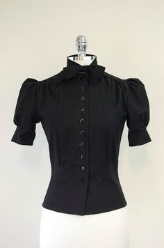 1930's+Style+Blouse+in+Black+by+Jitterbuggin+on+Etsy,+$79.00