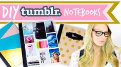 DIY Tumblr Notebooks #BacktoSchool ♥   BeautybyBlaire  keywords: collage, notebook, color, blocking, polka dot, diy, beauty, by, blaire, wilson, back, to, school, gold, paint
