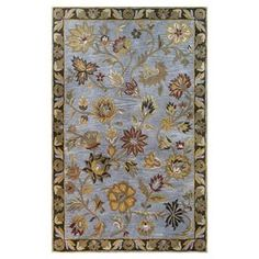 Hand-tufted wool rug with a floral motif. Product: RugConstruction Material: Wool pile and cotton backing Floral Rug, Floral Motif, Country Rugs, Country Chic, Tent Sale, Fabric Rug, Transitional Rugs, Accent Rugs, Joss And Main