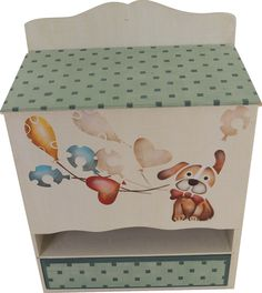 Painted Toy Chest, Pintura Country, Toy Boxes, Stencils, Decorative Boxes, Clip Art, Wood, Painting, Inspiration
