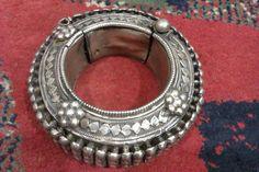 Pakistan | Old silver Sindhi bracelet | ©Amir, via Ethnic Jewels