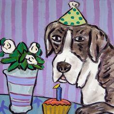 GREAT DANE waiter wine animal dog art print 8x10 poster