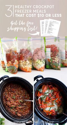Could You Eat Pizza With Sort Two Diabetic Issues? Do You Want To Save Money At The Grocery Store? Here Are 31 Healthy Crockpot Freezer Meals That Cost 10 Or Less Free Printable Recipes And Shopping List Below. Slow Cooker Freezer Meals, Make Ahead Freezer Meals, Easy Meals, Freezer Cooking, Crock Pot Freezer, Crockpot Freezer Recipe, Crock Pot Dump Meals, Budget Freezer Meals, Freezer Recipes