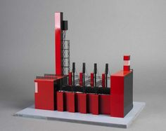 Models of Soviet Constructivist architecture, made by students of the University Of Western Australia.