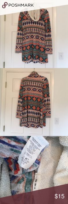 Long 'scar neck' long sleeve shirt This top would look cute with leggings and boots! Mon Ami  Tops Tunics