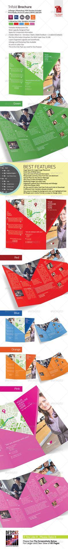 Printable Tri Fold Brochure Template Shear Trifold Brochure Template  Brochures Print Templates .