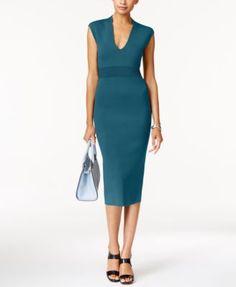 Michael Kors V-Neck Cap-Sleeve Dress Women - Dresses - Macy s d07eb0dc3