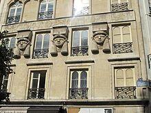 Egyptian Revival architecture - Foire du Caire building (1798) in Paris.