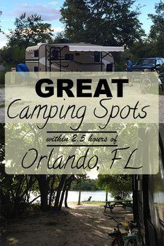 A Link Up and great Camping Spots near Orlando, FL Florida Camping, Florida Vacation, Florida Travel, Travel Usa, Travel Tips, Travel Destinations, Camping Guide, Camping Spots, Rv Camping