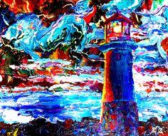"""""""Lighthouse"""" - Sightless Works - The Art of John Bramblitt"""