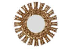 Sunburst Mirror, Burnished Gold