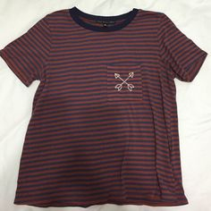 Stripe tee Worn a few times but in great condition Urban Outfitters Tops Tees - Short Sleeve