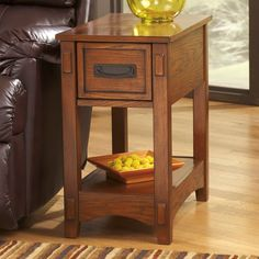 Have to have it. Signature Design By Ashley Breegin Mission Chair Side End Table - $89.99 @hayneedle