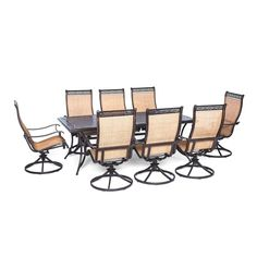 Cambridge Legacy 9-piece Outdoor Dining Set with 8 Swivel Rockers , Patio Furniture