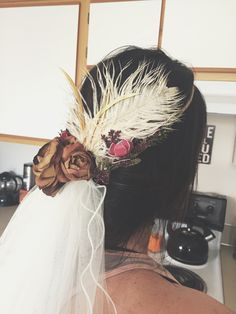 DIY wedding veil/flower crown. Boho chic.