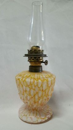 +Antique+END+OF+DAY+Glass+Oil+Lamp+One+of+a+Kind!!+Rare+BUTTERSCOTCH+PINE+MOLDED+ Antique Oil Lamps, Vintage Lamps, Candelabra, Candlesticks, Kerosene Lamp, Candlestick Holders, Wall Hangings, Lamp Light, Chandeliers