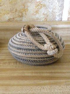 Lasso rope basket by JaneEHathaway on Etsy, $40.00