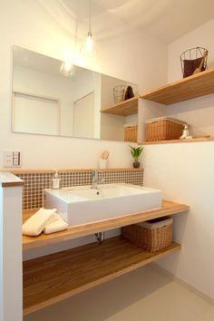 15 Cool Bathroom Backsplashes To Go For - Shelterness Cosy Bathroom, Bathroom Interior, Small Bathroom, Home Room Design, Home Interior Design, House Design, Bathroom Inspiration, Home Decor Inspiration, Muji Home