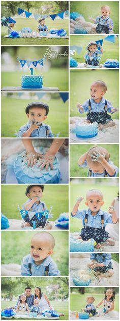 1st Birthday Party Themes, Boy First Birthday, Festa Mickey Baby, Outdoor Cake Smash, Baby Cake Smash, Baby Boy Pictures, Outdoor Baby, Baby Boy Photography, Cake Smash Photos