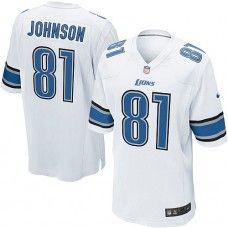 Nike Mens Detroit Lions Calvin Johnson Jersey 81 Game Team Color White Nfl  Jerseys For Sale 8b35e85ad
