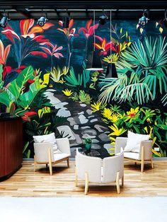 Hermosa pared en Hotel Arroyo