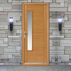 Lucca Oak Exterior Door With Obscure Double Glazing | Lucca, Doors And  Front Doors