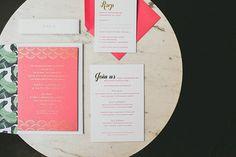 This Shoppable Wedding Is A Desert Dream #refinery29  http://www.refinery29.com/lulu-georgia-wedding-decor#slide1  Invitations by Maude Press.