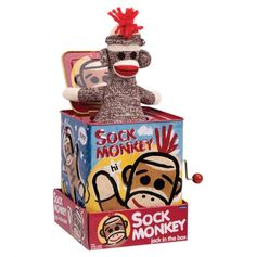 Sock Monkey Jack in the Box - Schylling Toys - Events