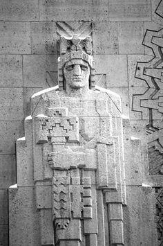 Parducci, architectural sculpture.  Guardian building, Detroit.