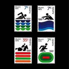 Olympic Stamps for the Munich Games 1972 via @Adrian_Newell