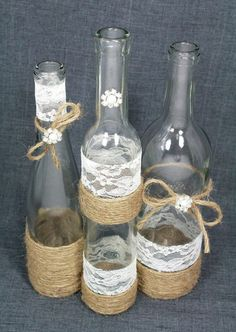 ideas diy wedding rustic centerpieces wine bottles for 2019 Wedding Reception Centerpieces, Rustic Wedding Centerpieces, Diy Centerpieces, Wedding Decorations, Wine Bottle Centerpieces, Wedding Wine Bottles, Deco Table Champetre, Diy Wedding, Wedding Rustic