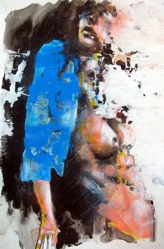 figure with blue