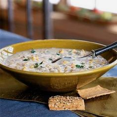 You can have this chicken corn chowder on the table in less than 30 minutes.