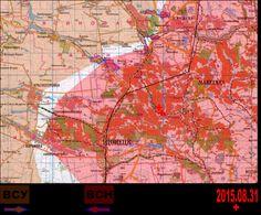 2015.08.31 Крупномасштабная карта Донецкого фронта. Итоговая карта за 31 августа 2015 года.