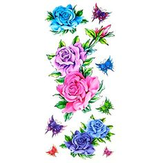 Oottati Assorted Temporary Tattoo Flower Butterfly (2 Sheets) >>> Learn more by visiting the image link. (This is an affiliate link and I receive a commission for the sales) #TemporaryTattoos