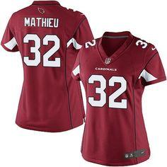 Nike Tyrann Mathieu Elite Red Home Women s Jersey - NFL Arizona Cardinals   32 4cab3b237