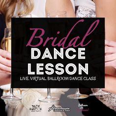 Live Virtual Bridal Party Ballroom Dance Class - Bachelorette Party Idea