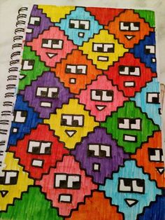 Graph Paper Drawings, Graph Paper Art, Pencil Art Drawings, Modele Pixel Art, Cross Stitch Floss, Pixel Drawing, Pix Art, Pixel Pattern, Art Prompts