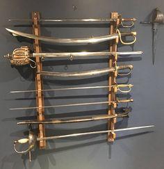 Wall mounted sword rack, bokken rack, katana rack, sword display