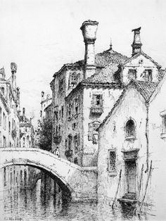 Architecture Drawing Discover Venice Urban Architectural Drawings Rio della Sensa Venice 1883 Venice Urban Architectural Drawings from the Click the image to see more of Andrew Bunners work. Croquis Architecture, Art And Architecture, Architecture Drawing Sketchbooks, City Drawing, Painting & Drawing, Paris Drawing, Art And Illustration, Pencil Art Drawings, Drawing Sketches