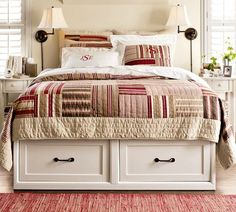 Same bed in white. I like the bedside lights on the wall instead of on the table.