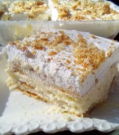 Greek Desserts, Greek Recipes, Keto Recipes, Cooking Recipes, Greek Cake, Meals Without Meat, Baking Business, Time To Eat, Finger Foods