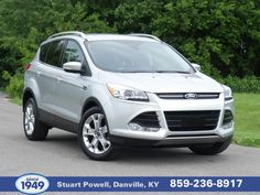 The best value in automotive flexibility, this 2015 Ford Escape Titanium is value priced below market!  Includes remote start, Bluetooth, HD radio, back-up camera, rear parking aid, leather seats, heated front seats, premium sound package, satellite radio capable, keyless entry, 1.6L EcoBoost, front wheel drive, power liftgate, all-weather floor and cargo mats, and much more!  Visit us at 225 S. Danville Bypass, call 859-236-8917, or check out this vehicle online!