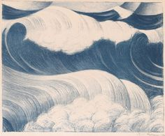 redlipstickresurrected: C. Nevinson aka Christopher Richard Wynne Nevinson (British, b. Hampstead, UK) - The Wave, 1917 Lithograph No Wave, Historia Natural, Art Asiatique, Art Textile, All Nature, Old Paintings, Surf Art, Insta Photo, Japanese Art