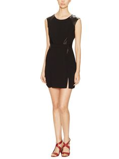 Sheath Dress with Leather Inserts by The Kooples at Gilt